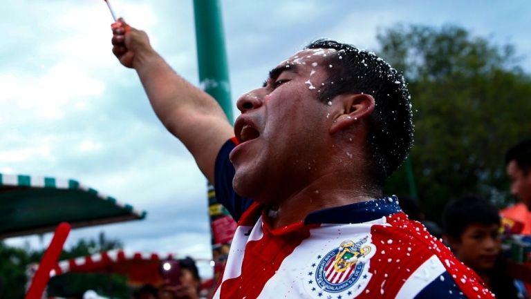 Aficionado de Chivas previo a un partido