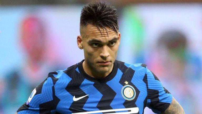 Lautaro Martínez durante un partido con Inter de Milan