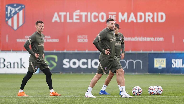 Héctor Herrera: Volvió a entrenar con el Atlético de Madrid