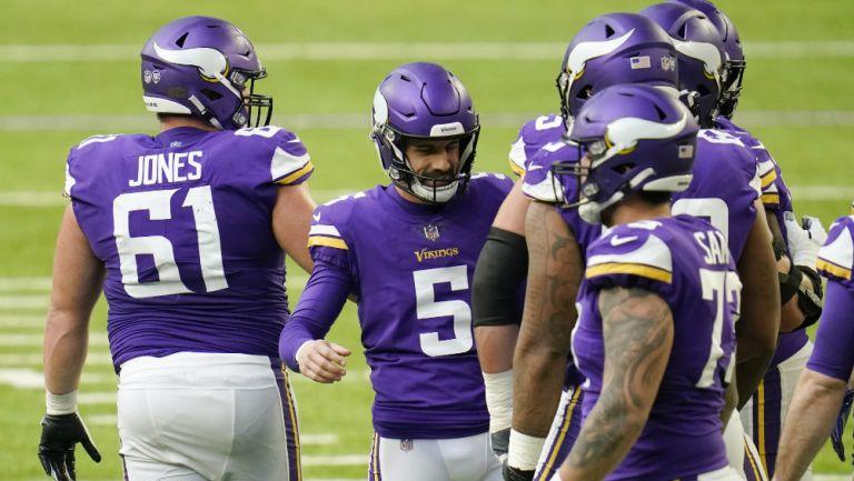 Vikings en festejo de TD
