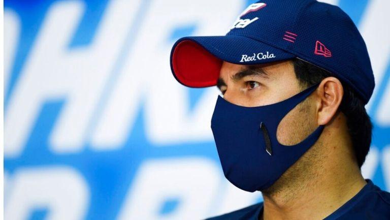 Sergio Pérez antes de la carrera