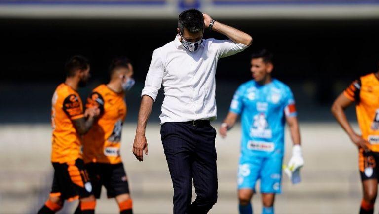 Paulo Pezzolano al término del partido ante Pumas