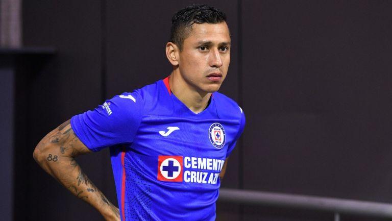 Cata Domínguez durante un partido con Cruz Azul