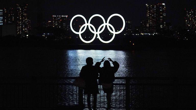 Los aros Olímpicos en Tokio