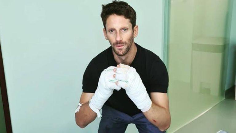 Romain Grosjean recibió el alta médica y salió del hospital