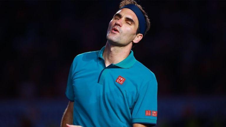 Roger Federer durante un evento