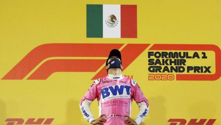 Sergio Pérez tras llevarse el GP de Sakhir
