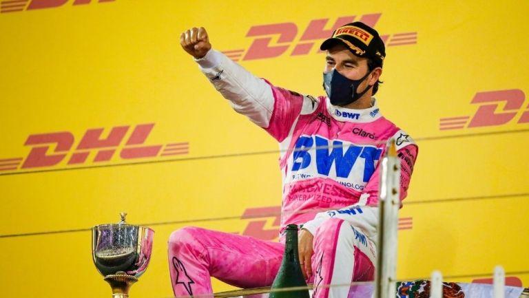 Checo Pérez en el GP de Sakhir