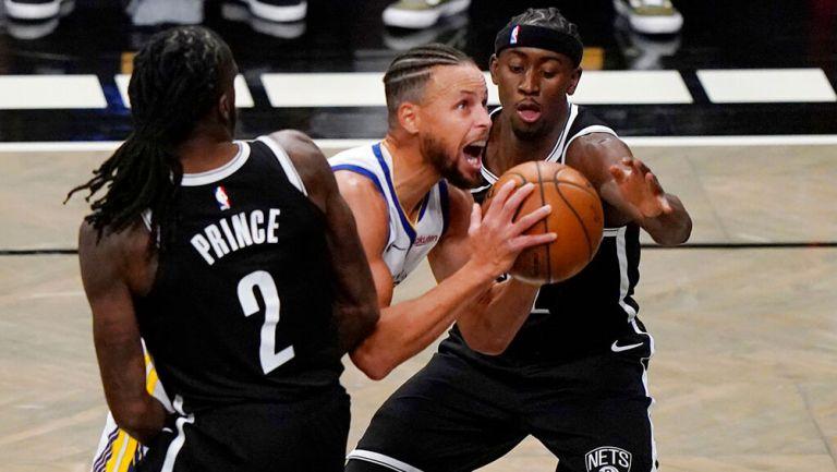 Nets arruinaron regreso de Stephen Curry con Warriors en inicio de NBA