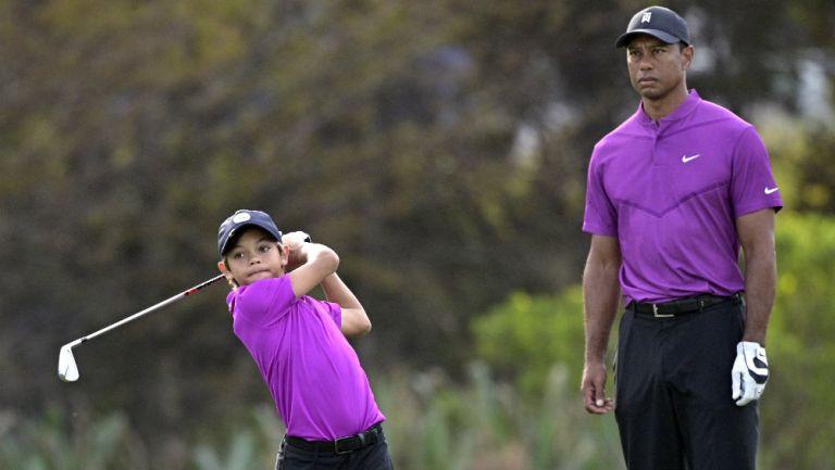 Tiger Woods: Hijo del golfista estadounidense debutó en el PNC Championship