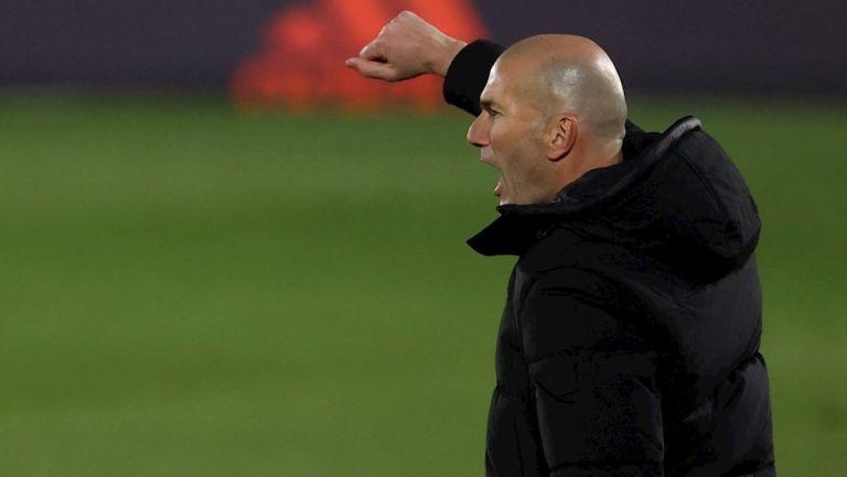 Zidane durante un partido con el Real Madrid
