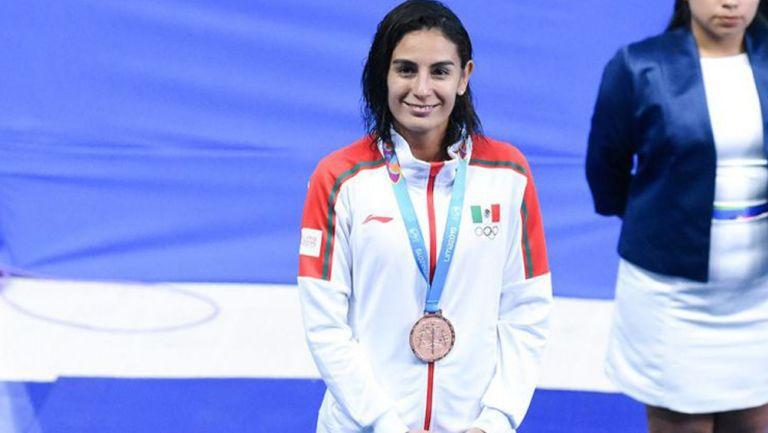Paola Espinosa tras ganar su medalla de bronce