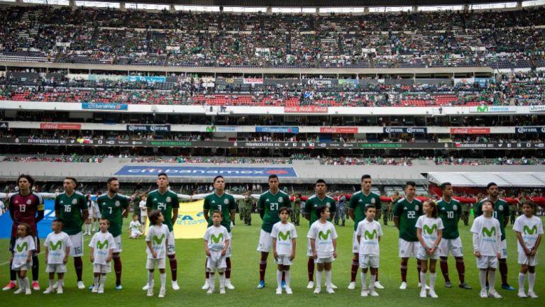 El Tricolor previo al partido vs Gales en el Azteca