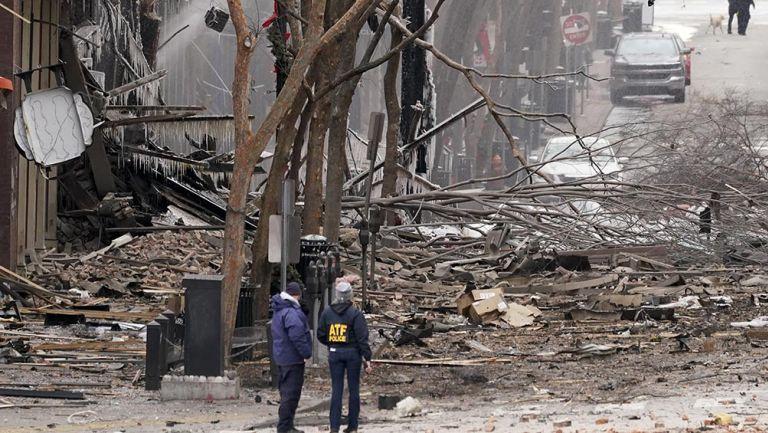 Las cercanías de la explosión en Nashville