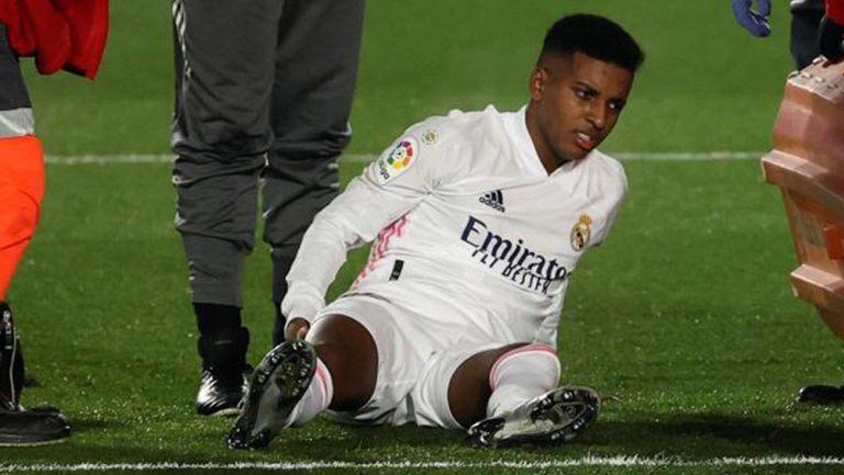 Rodrygo tras su lesión en el duelo ante Granada