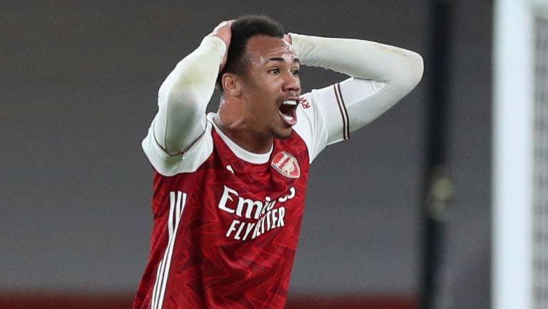 Gabriel, en un partido del Arsenal de la Premier League