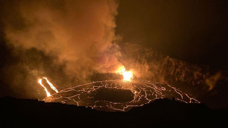 La lava en el cráter del volcán Kilauea