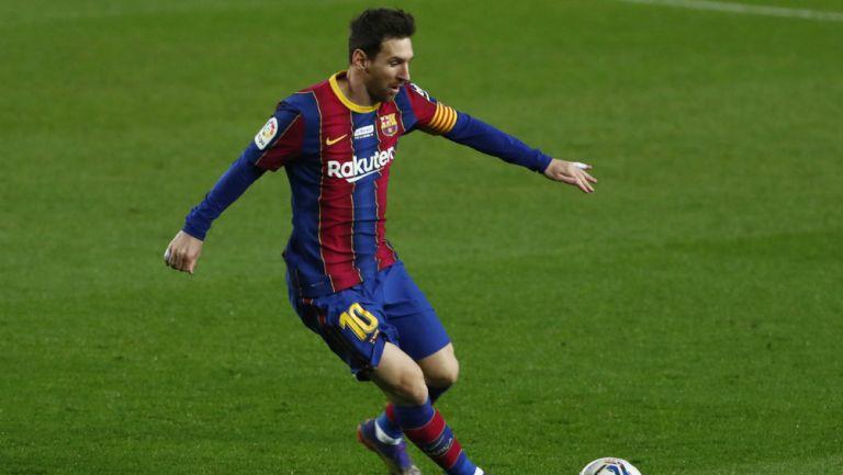 Messi en partido con Barcelona