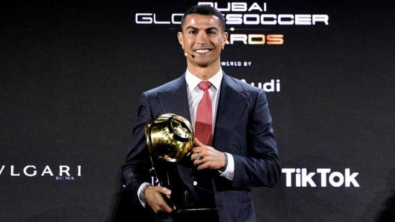 Cristiano Ronaldo en premiación
