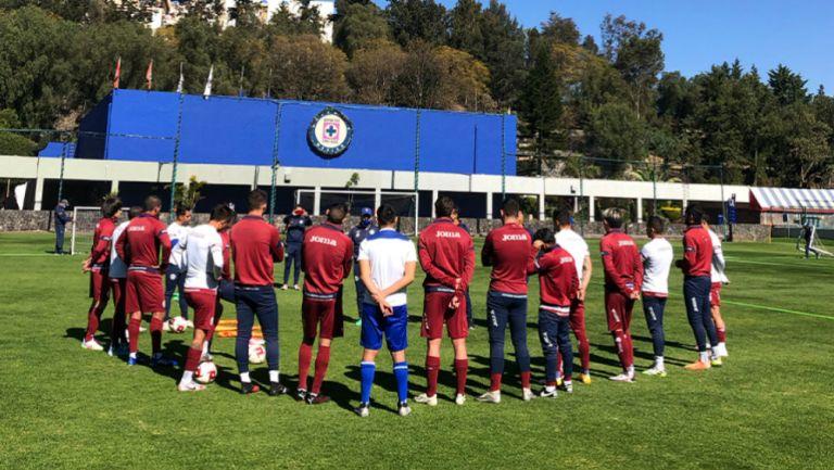 Cruz Azul en entrenamiento