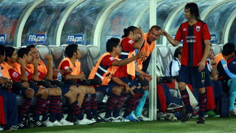 Santiago Solari dirige como jugador del Atlante