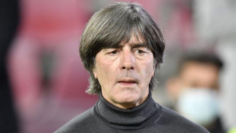 Joachim Löw en un partido de Alemania