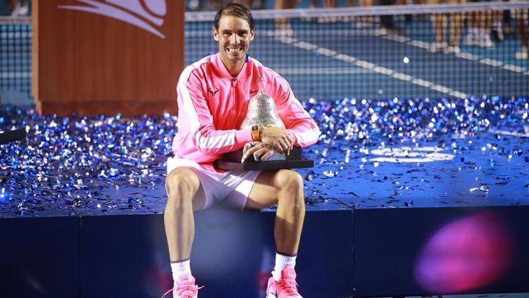 Nadal sostiene su título del Abierto Mexicano de Tenis 2020