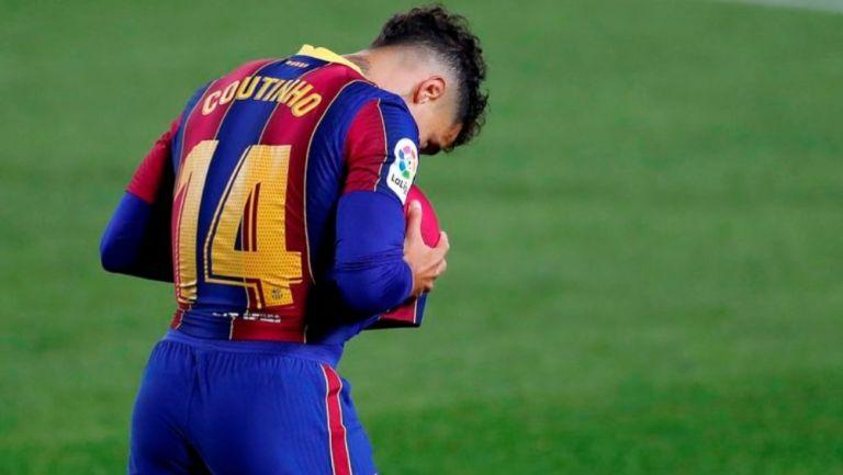 Philippe Coutinho en un partido con el Barcelona