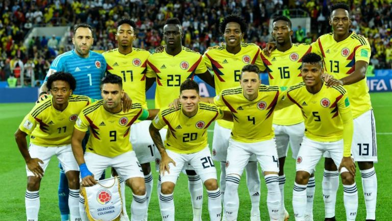 Selección de Colombia previo a un partido