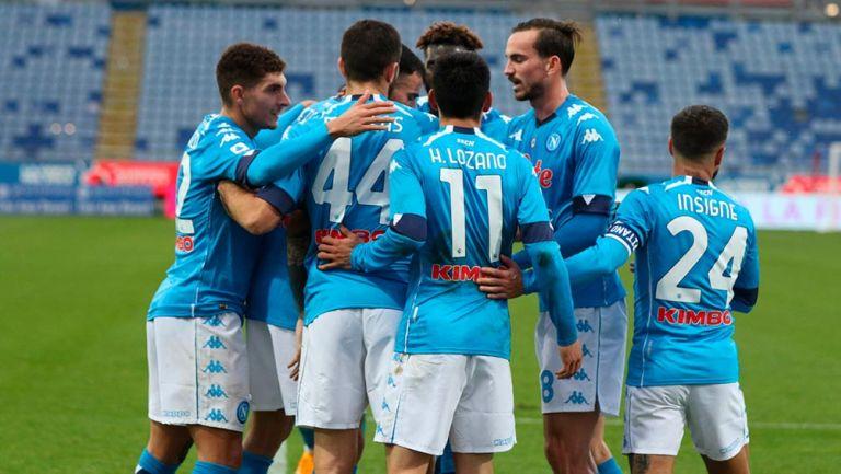 Chucky Lozano: Napoli goleó al Cagliari con tanto del mexicano