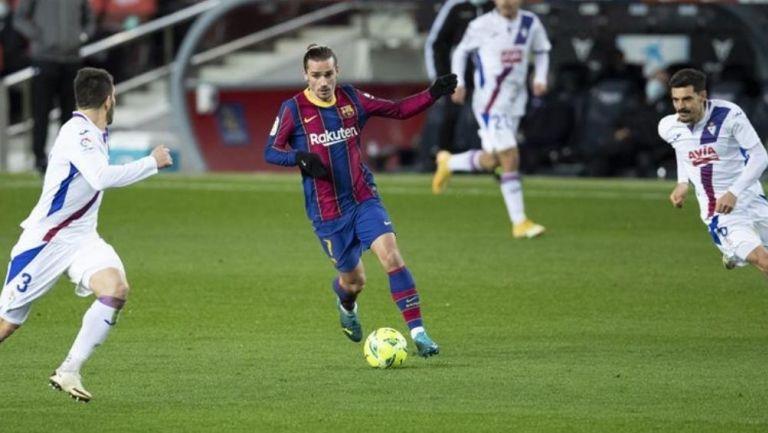 Antoine Griezmann durante un partido con Barcelona