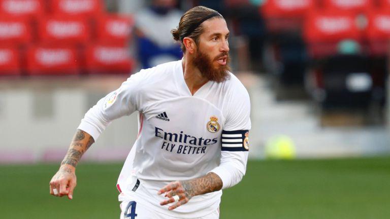 Sergio Ramos, durante un juego del Real Madrid