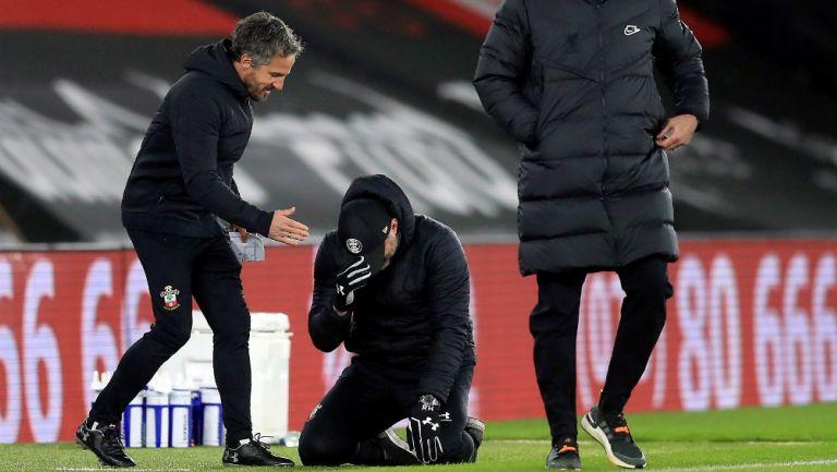 Ralph Hasenhüttl tras vencer a Liverpool