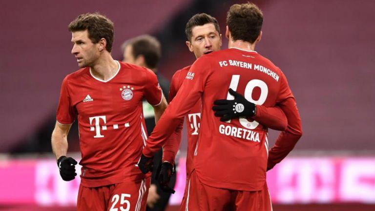 Bayern Múnich en festejo de gol