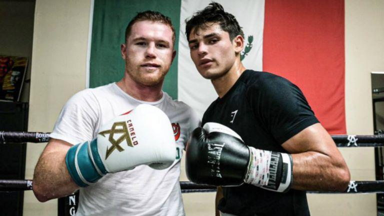Canelo y Ryan García en entrenamiento