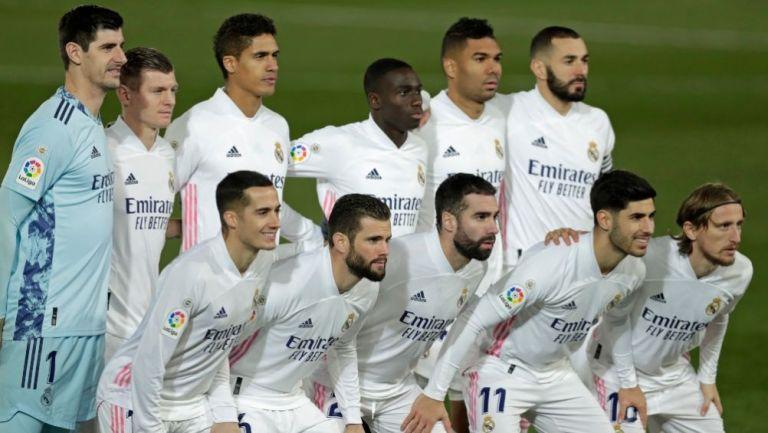 Jugadores del Real Madrid previo a un partido