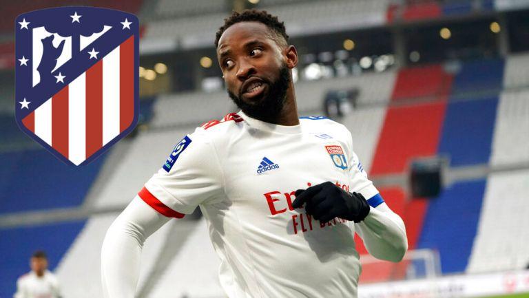 Moussa Dembélé en acción con el Atlético de Madrid