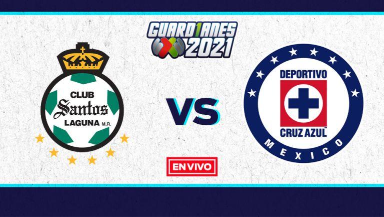 EN VIVO Y EN DIRECTO: Santos vs Cruz Azul Guardianes 2021 J1