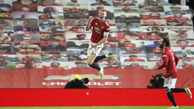 El festejo del gol de McTominay