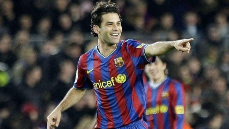 Rafael Márquez durante su paso con el Barcelona