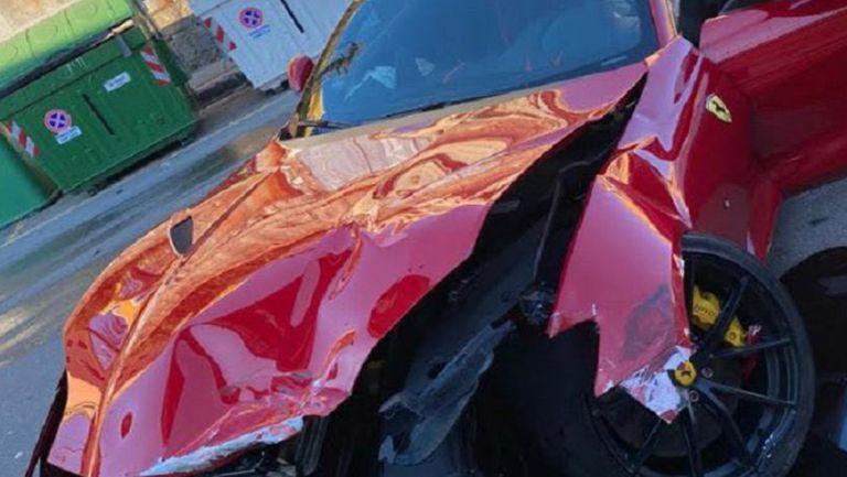Ferrari de Federico Marchetti quedó destrozado