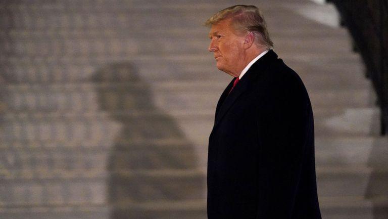Donald Trump tras su regreso de un viaje