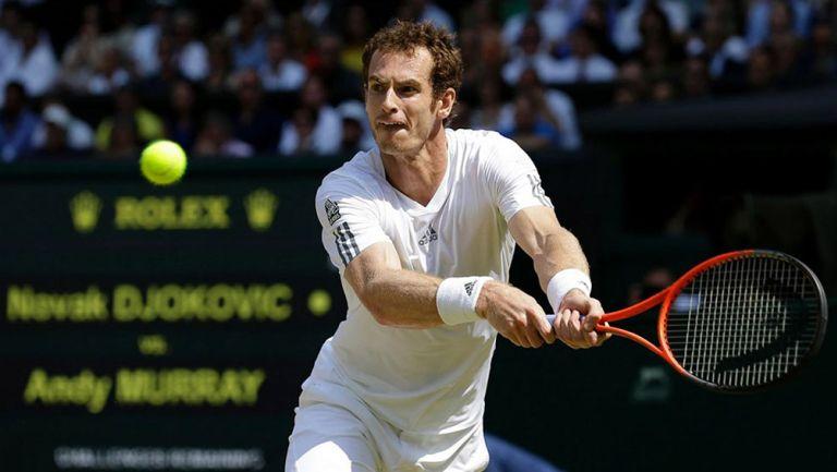 Andy Murray durante un partido de Grand Slam