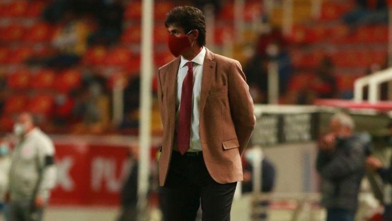 Leonel Rocco en el partido vs Necaxa
