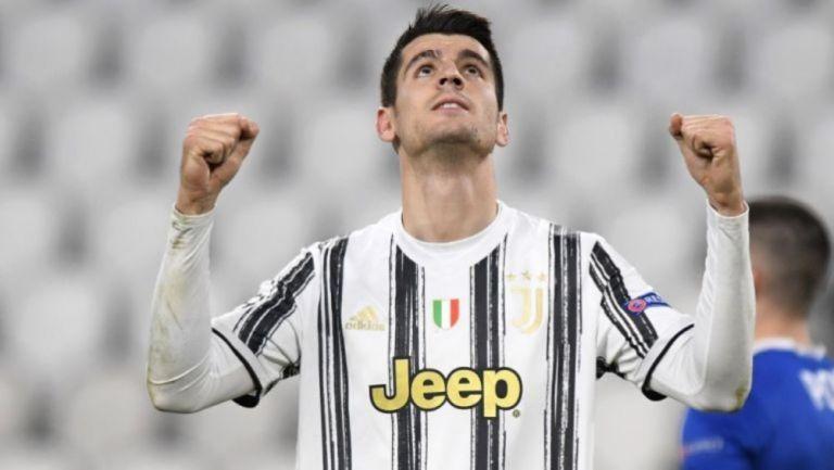 Álvaro Morata en un partido de la Juventus