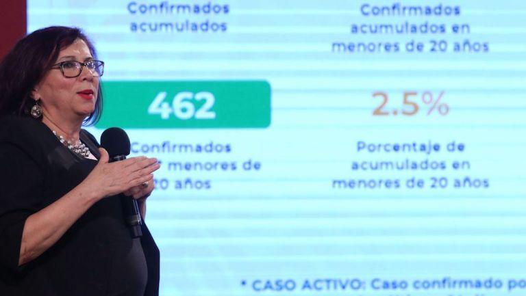 Miriam Veras Godoy, en conferencia de prensa
