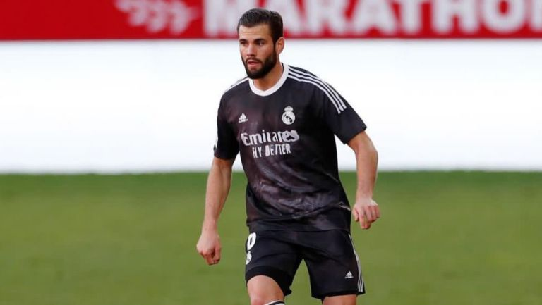 Nacho en un partido del Real Madrid