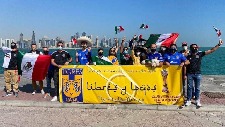 Aficionados de Tigres en Doha