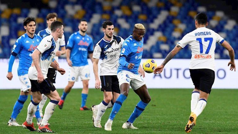 Napoli y Atalanta empataron a cero en la Ida de Semifinales