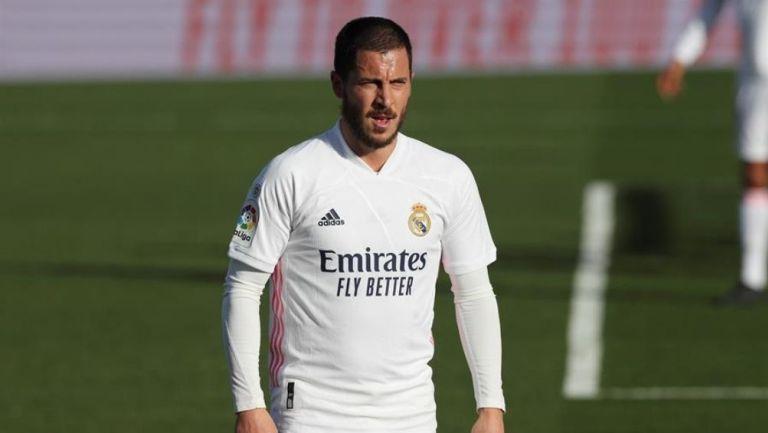 Eden Hazard en partido con el Real Madrid